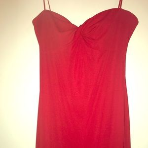 A gorgeous formal red dress